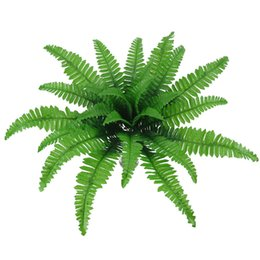$enCountryForm.capitalKeyWord Australia - 24 Head Simulation Fern Grass Green Big Leaves Artificial Plants Persian Leaves For Home Garden Wedding Decoration Fake Leave
