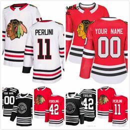 0da29e532 Cam Ward Jersey 30 Gustav Forsling 42 Brendan Perlini 11 Brandon Manning 23  Jacob Nilsson 67 Mens Ice Hockey 2019 Chicago Blackhawks S-3XL