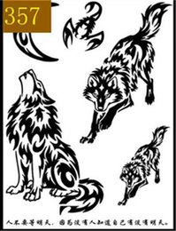Figure Classics Australia - Wolf head tattoo sticker waterproof man classic dripping blood Wolf head tattoo big figure chest flower arm paper free shipping