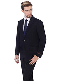 $enCountryForm.capitalKeyWord NZ - Suits Men New Style Designs navy blue Mens Suit Wedding Dress Tuxedos mens suits with pants costume homme terno 2PCS trajes de