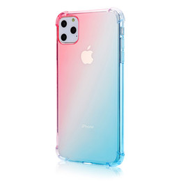 case color water proof Australia - Shockproof Transparent Gradient color Phone Case For iPhone 6 6S 7 8 Plus X XR XS MAX TPU Airbag Drop-proof Cover Case