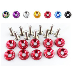 Discount fasteners washers 10PCS M6 JDM Car Modified Hex Fasteners Fender Washer Bumper Engine Concave Screws