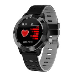 brown tempered glass UK - CF58 Smart Watch IP67 waterproof Tempered glass Activity Fitness tracker Heart rate monitor Sports Men Women