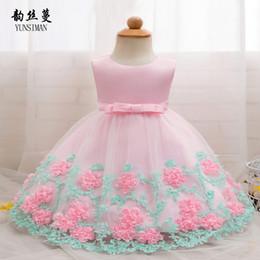 $enCountryForm.capitalKeyWord Australia - Baby Dress for Newborn 3 6 9 12 18 24 Months Baby Girl Clothes Dresses Flower Bow 1 Year Birthday Dress Vestido Infantil 2M06