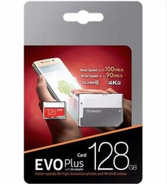 Vente en gros 2019 Vente Chaude Noir Rouge EVO Plus U3 16GB 32GB 64GB 128GB 256GB C10 TF Carte Mémoire Flash Classe 10 Free SD Adaptateur Au Détail Blister Package
