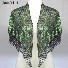 $enCountryForm.capitalKeyWord NZ - JaneVini 2019 Sparkling Wedding Jacket Beaded Bolero Wrap New Green Summer Short Bridal Sequined Cape Cloak Shawl Women Wedding Accessories