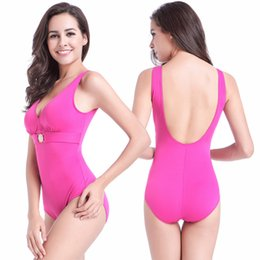 super woman swimsuit NZ - Buckled Center Swimming Clothes for Fat MM Large Women Big Female Swimming Wear Plus Size Swimsuit Super XXXL Bathing Suits