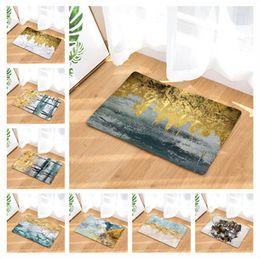 $enCountryForm.capitalKeyWord Australia - Abstract Ink Painting Doormat Bath Kitchen Carpet Decorative Anti-Slip Mats Room Car Floor Bar Rugs Door Home Decor Gift