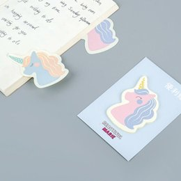 Stationery NZ - Novelty Unicorn Memo Pad Cute Paper Sticky Notes Lovely Writing Pads Adhesive Label Stickers School Supplies Kawaii Stationery