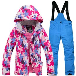 Ski Suits For Children Australia - Ski Suit For Children Outdoor Clothes In Winter Windproof Waterproof Thickened Warm Cotton-Padded Jacket