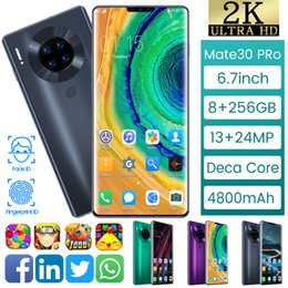 "M30 Android 4G 3G Smartphone 6.7""fingerprint Face Unlocked Mobile Smart Phones 8G 256G Dual SIM Mobilephones Telephone Wifi on Sale"