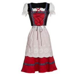 Discount cosplay maids outfit - Dirndl Dress German Oktoberfest Bavarian Beer Wench Costume Maid Outfit Fancy Cosplay halloween costumes for women adult