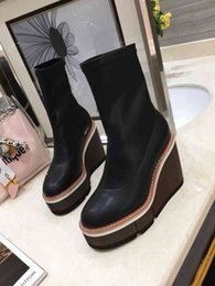$enCountryForm.capitalKeyWord NZ - nx7202019 high quality Womans Leather shoes Luxury Designer ankle boots factory direct female rough heel round head autumn