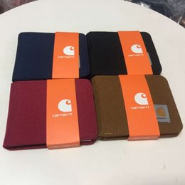 Wholesale 2019 Fashion One Size Designer Bag Carhartts WIP Barnes Coin Wallet Credit Card ID Holder Packet Hangbag Man Woman Wallets