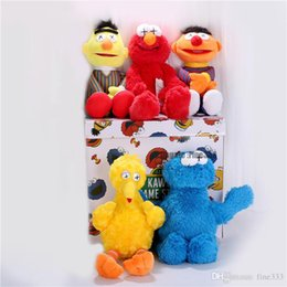 sesame toys Australia - Sesame Street & KAWS 5 Models Plush Toys ELMO BIG BIRD ERNIE MONSTER Stuffed Best Quality Great Gifts For Kids