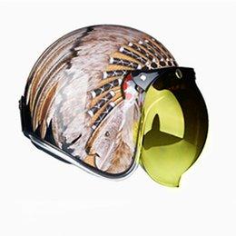 $enCountryForm.capitalKeyWord Australia - HOT sale Open Face Half Helmet Moto Motorcycle Helmets vintage Chopper Motorbike Headgear Casque Casco For Harley helmet