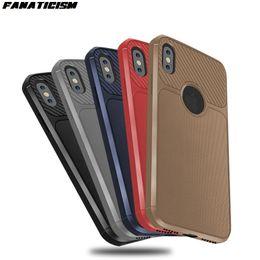 $enCountryForm.capitalKeyWord Australia - Carbon Fiber Design Soft Rubber Silicone Case For iphone XR X XS Max 6 7 8 Plus Grid Pattern Soft TPU Phone Cover