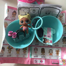 lol toys accessories UK - New Arrived Original Doll In Ball LoL Series 4 Little Sister Dolls Color Change Baby Child Toy With Accessories Good Xmas Gifts For Children