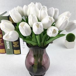 Venta al por mayor de Regalos de la decoración de las flores artificiales de seda Mini tulipán flores artificiales flores artificiales boda del ramo de hogar decoración del jardín del tulipán LSK180
