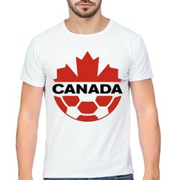 $enCountryForm.capitalKeyWord Australia - Canada t shirt Maple leaf football style short sleeve tops Soccer fadeless tees Unisex white colorfast clothing Pure color modal tshirt