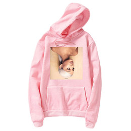 vetement hoodie NZ - Sudadera Mujer Ariana Grande Hoodie Sweatshirt Hoodies for Women 2019 New Fashion Clothes Top Long sleeve Female Vetement Femme