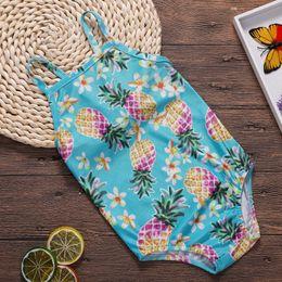 Swimwear Infant Australia - Summer Infant Baby Girl Swimsuit Bebe Swimwear Pineapple Pattern Swimming Bikini Bathing Suit Children Costume Party Clothes