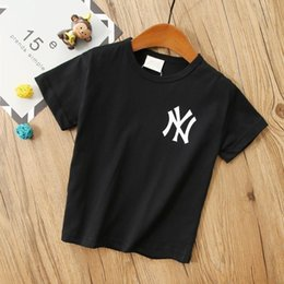 Letter Pattern For Shirts Australia - Children's wear Unisex Short sleeve T-shirt Summer clothing 2019 new products Refreshing Wholesale prices Solid color Letter pattern for