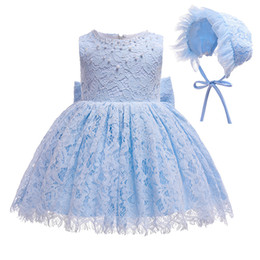 $enCountryForm.capitalKeyWord UK - 2019 Newborn Girls Dress for christening Baby Girl Blue Dresses for Toddler Girls 1 Years Birthday Baptism Gowns Clothes