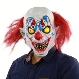 Dress New Adult Dress Party Clown Clown Circus Up Mask Halloween Up Mask Costume Latex OHWSE