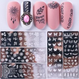 $enCountryForm.capitalKeyWord Australia - Find_To Nail Transfer Plate Classic Explosion Models Small Floral Butterfly Petals Nail Template Transfer Nail Art Tool FMJ0021