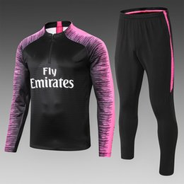 $enCountryForm.capitalKeyWord NZ - top quality 2018 paris Black Red tracksuit MBAPPE soccer jersey Trining suit Thailand 18 19 Sweater suit with watermark Size S-XXL