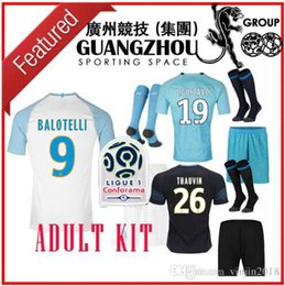 0d38e26a4 18 19 MARSEILLE ADULT KITS soccer Jerseys L.GUSTAVO 19 PAYET 10 CHILD  THAUVIN 26 2018 2019 Jersey BALOTELLO 9 SANSON 8 football shirts