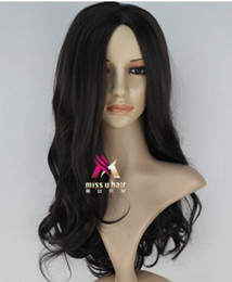 Long dark brown cospLay wig online shopping - Dark Brown Long Wavy The Hunger Games Katniss Everdeen Cosplay Party Wig