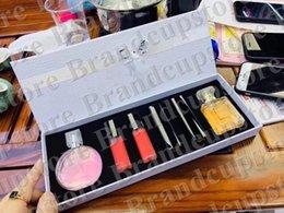 China Perfume Lipgloss Makeup Sets 2pcs Perfume+ 4pcs Lipstick With Box 6 in 1 Set perfume 6pcs DHL Free Ship supplier lipstick free shipping dhl suppliers