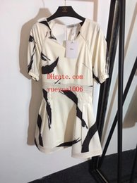 $enCountryForm.capitalKeyWord NZ - Brand woman summer dresses women jumpsuits rompers New brush strokes puff sleeve V-neck silk short-sleeved dress skirt women clothes