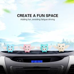 pig holders 2019 - Car Air Freshener Small Pig Shape Dashboard Perfume Holder Car Practical Fragrance Diffuser cheap pig holders