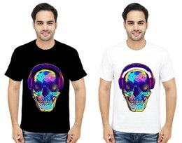 $enCountryForm.capitalKeyWord NZ - New 2Techno Music Rave Skull T-Shirt House DjClub Dance Retro Acid Tee Top S-3XLdenim clothes camiseta t shirt