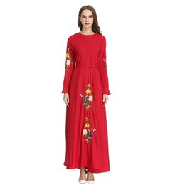 $enCountryForm.capitalKeyWord UK - Women High Waist Plus Szie Muslim LongSleeve Arab Dress Islam Jilbab Dress Plus Size Chiffon Dresses Women New Fashion #3