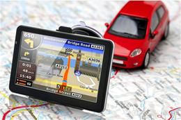 Avin Bluetooth Australia - 7 inch Car GPS 718N HD 800*480 Navigation System Bluetooth AVIN Capacitive Screen FM 8GB 256MB Vehicle Truck GPS with free Map