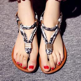 $enCountryForm.capitalKeyWord Australia - Hot Sale- Snake-grain Sandal Summer Sandals T-strap flip flops Lady Designer Shoe High Quality Genuine Leather Sandal For Women Metal buckle