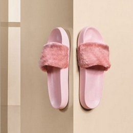 $enCountryForm.capitalKeyWord NZ - Leadcat Fenty Rihanna Shoes Women Slippers Indoor Sandals Girls Fashion Scuffs Pink Black White Grey Fur Slides Without Box High Quality n88