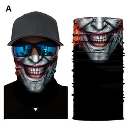 mask for bicycle Australia - 26 Patterns 3D Half Face Mask Cool Joker Jolly Triangular Scarf Binder Sunscreen Fabrics Facial Cover for Bicycle Parade Demonstration Bedin