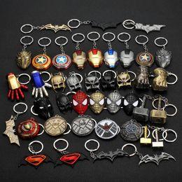 $enCountryForm.capitalKeyWord UK - The Avengers Captain America Shield Spiderman Batman Keychain Toy Superhero Hulk Iron Man Marvel jewelry Metal Pendant Keychains