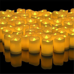 $enCountryForm.capitalKeyWord Australia - LED Lights Candles Flameless for Wedding Party Home Decoration Wavy Edge Electronic Candles for Home Party Supplies High Quality
