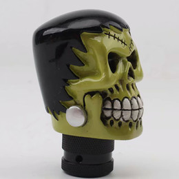 gear shift heads NZ - Best-selling personalized resin wave stick head skull ball head car modified gear shift head touch skull gear lever A002