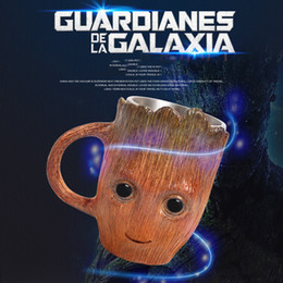 $enCountryForm.capitalKeyWord Australia - Guardians of The Galaxy Stainless Steel Coffee Mug Cup Cartoon Cute Tree Man 3D Coffee And Drink Cup Groot Goblet Home Ceramics