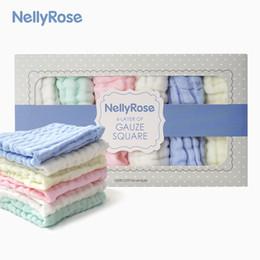 $enCountryForm.capitalKeyWord Australia - Baby Saliva Towel Small Square Six Layer Gauze Cotton Handkerchief Soft Baby Hand Face Washing Towels Kids Feeding Bathing Accessories Gifts