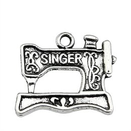 $enCountryForm.capitalKeyWord Australia - 150pcs Sewing Charms Vintage Sewing Charms Sewing Antique Silver Charms For Jewelry Making Bracelets Wholesale 17x20mm