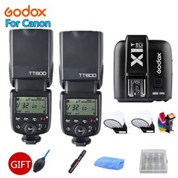 Wholesale 2x Godox600 G Wireless X System Camera Flashes Speedlites With X1T C Transmitter Trigger for Cameras Free Gift Kit