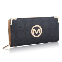 Wholesale 2019 Women Designer Wallet Luxury PU Leather Zipper Wallets Handbags With Card Slot Brand Fashion Clutch Money bag Card Holder Pocket B61302